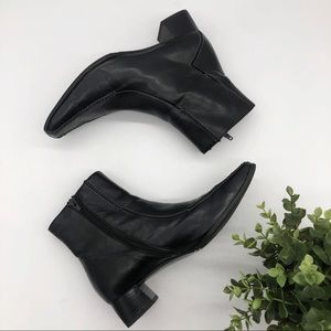 Paul Green Hand Made Square Toe Leather Booties